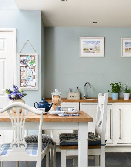 Best ideas about Blue And White Kitchen Decor . Save or Pin Need country kitchen decorating ideas Take a look at this Now.