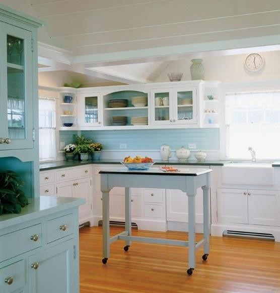 Best ideas about Blue And White Kitchen Decor . Save or Pin Something Blond Blue Kitchens Now.