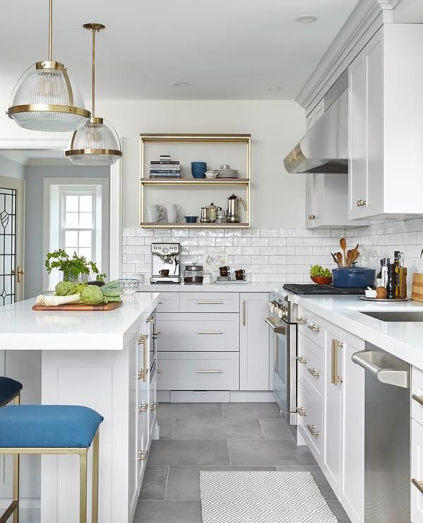 Best ideas about Blue And White Kitchen Decor . Save or Pin Best 25 Blue grey kitchens ideas on Pinterest Now.