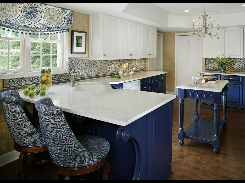 Best ideas about Blue And White Kitchen Decor . Save or Pin Blue and White Kitchen Designing Tips Now.
