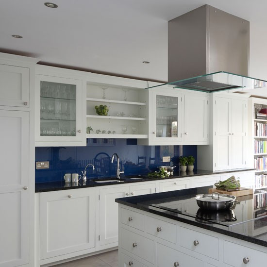 Best ideas about Blue And White Kitchen Ideas . Save or Pin Classic blue and white kitchen Now.