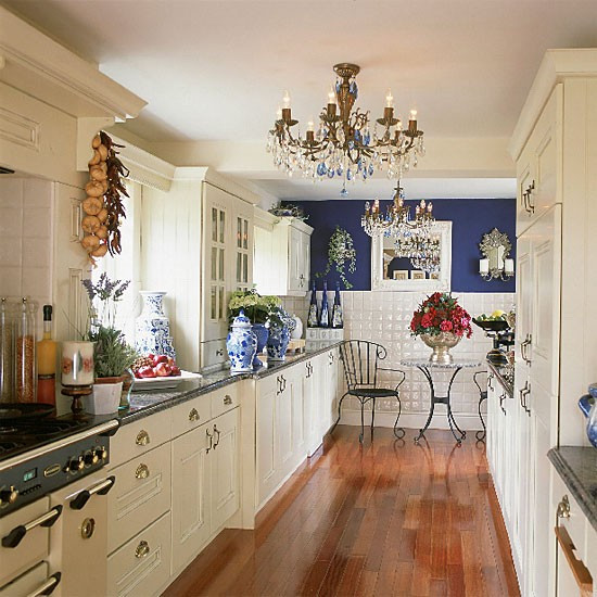 Best ideas about Blue And White Kitchen Ideas . Save or Pin Blue and white galley kitchen Now.