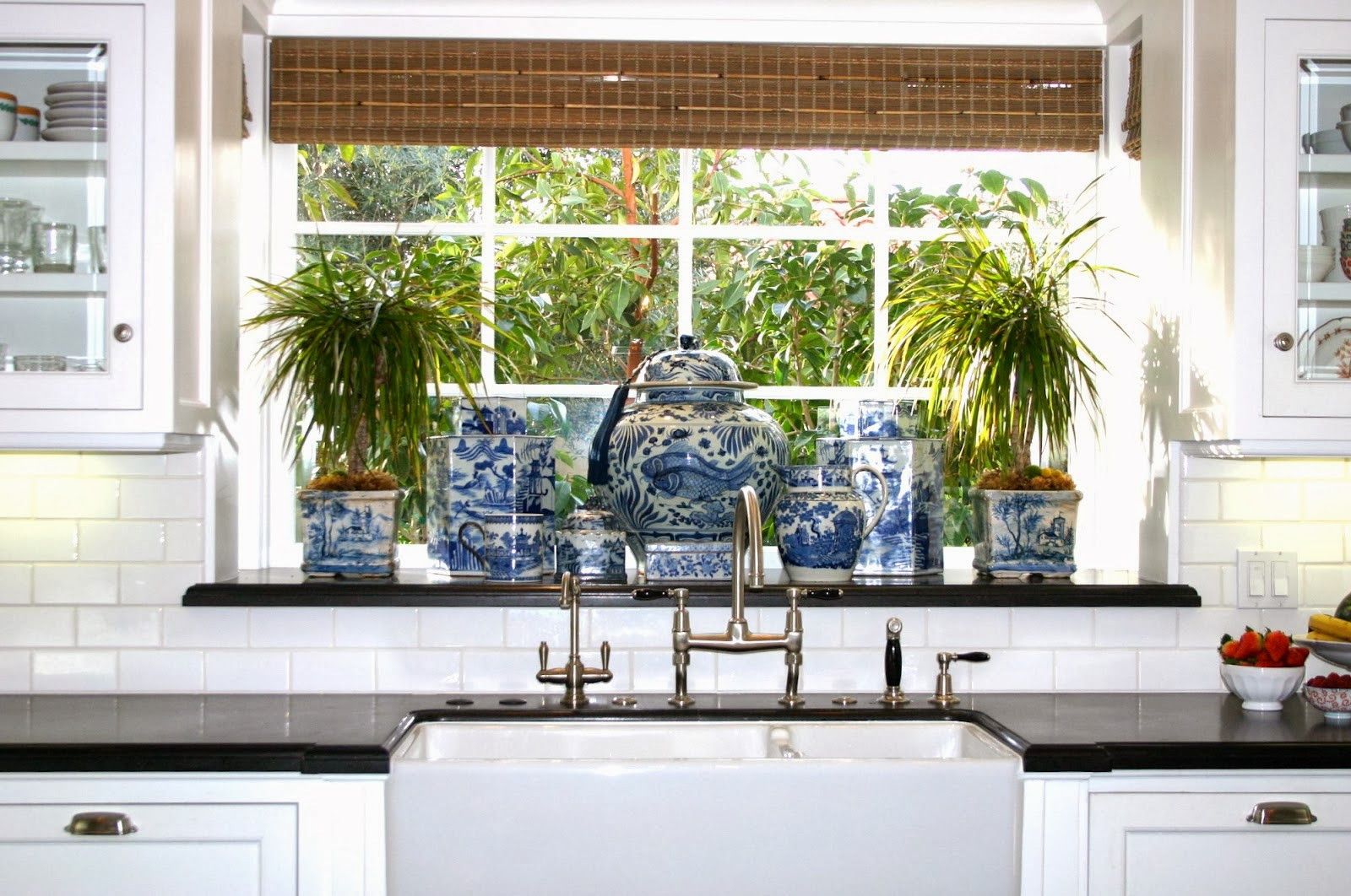 Best ideas about Blue And White Kitchen Ideas . Save or Pin The Glam Pad 25 Classic White Kitchens with Blue & White Now.