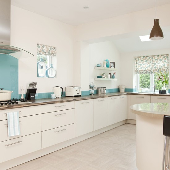 Best ideas about Blue And White Kitchen Ideas . Save or Pin White and blue kitchen Now.