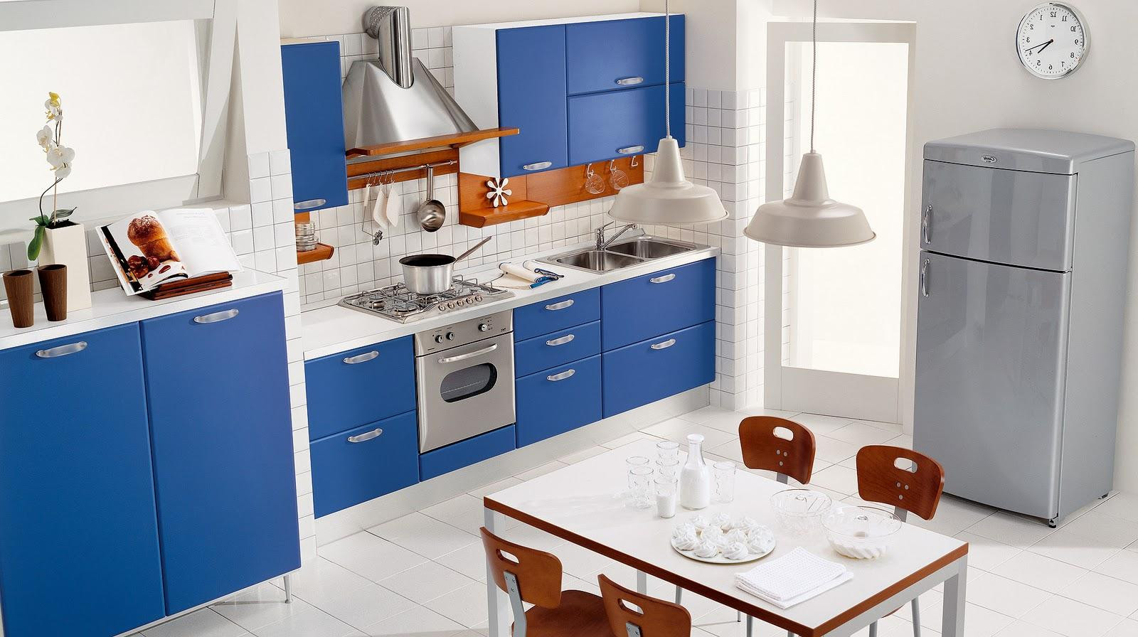 Best ideas about Blue And White Kitchen Ideas . Save or Pin Alluring Blue Kitchen Design Ideas Now.