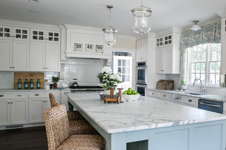 Best ideas about Blue And White Kitchen Ideas . Save or Pin White and Blue Kitchen Transitional kitchen Sherry Now.