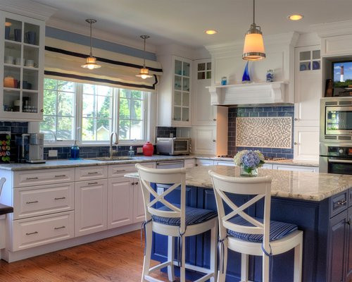 Best ideas about Blue And White Kitchen Ideas . Save or Pin Blue And White Kitchen Ideas Remodel and Decor Now.