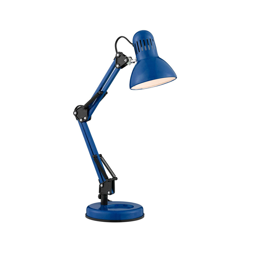 Best ideas about Blue Desk Lamp . Save or Pin Searchlight 2429AZ 1 Light Blue Desk Lamp Now.