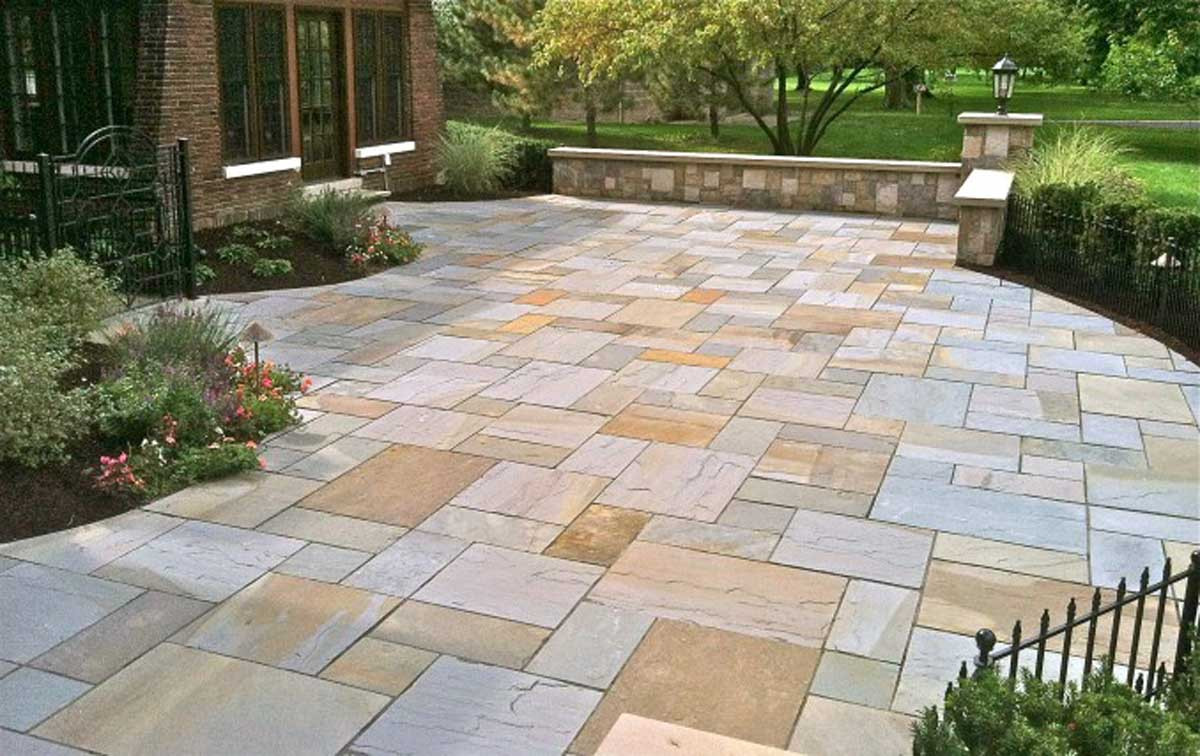 Best ideas about Blue Stone Patio . Save or Pin Design Gallery Now.