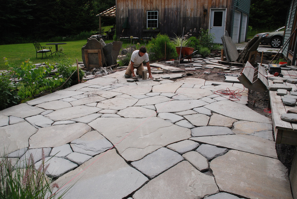 Best ideas about Blue Stone Patio . Save or Pin Maine Stonework Masonry Hardscaping Now.