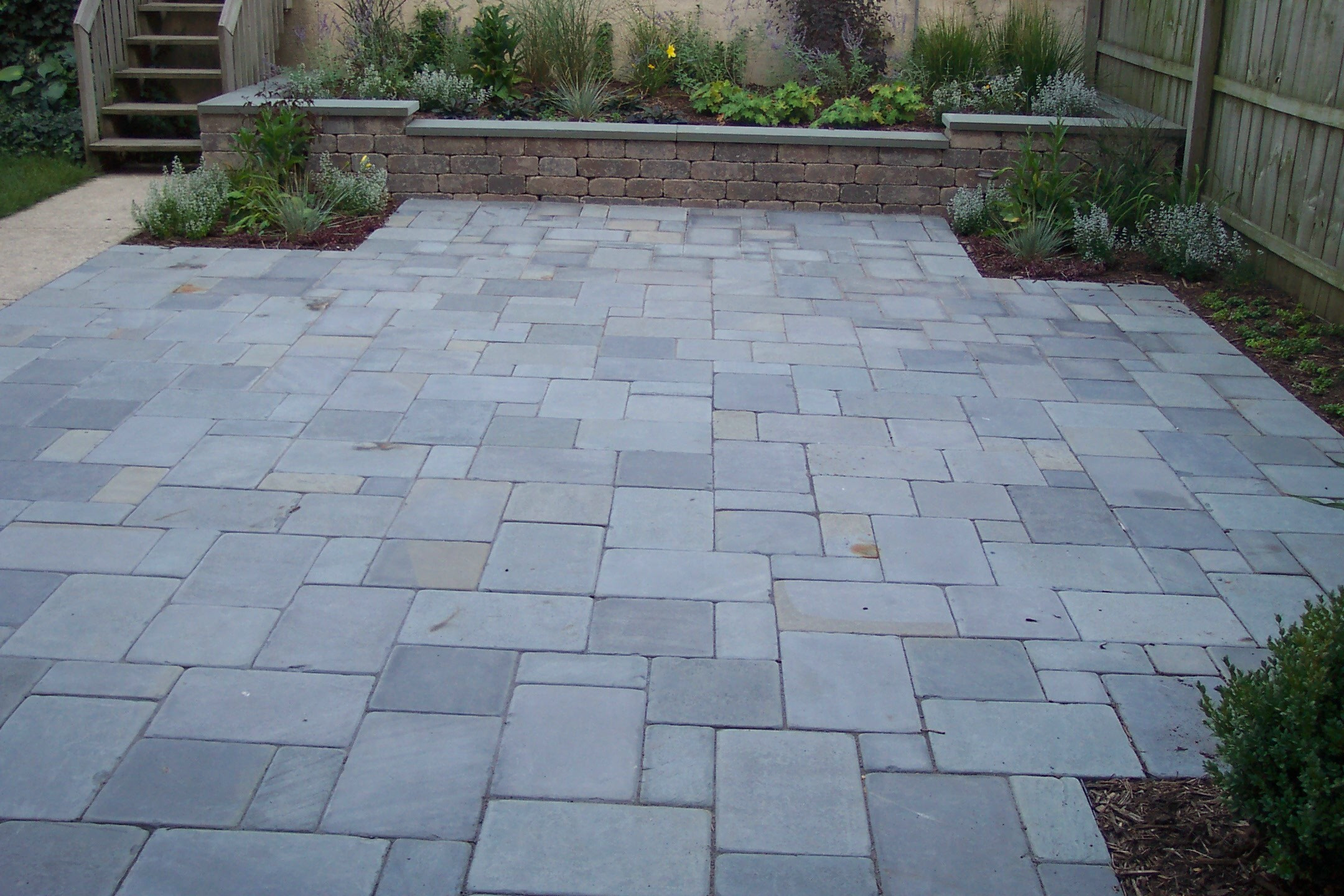 Best ideas about Blue Stone Patio . Save or Pin Backyard on Pinterest Now.