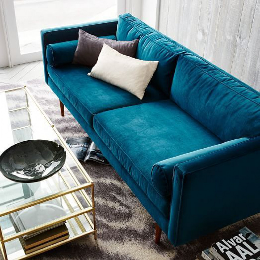 Best ideas about Blue Velvet Sofa . Save or Pin Royal Blue Velvet Sofa Blanca 3 Seat In 2018 Sitting Room Now.