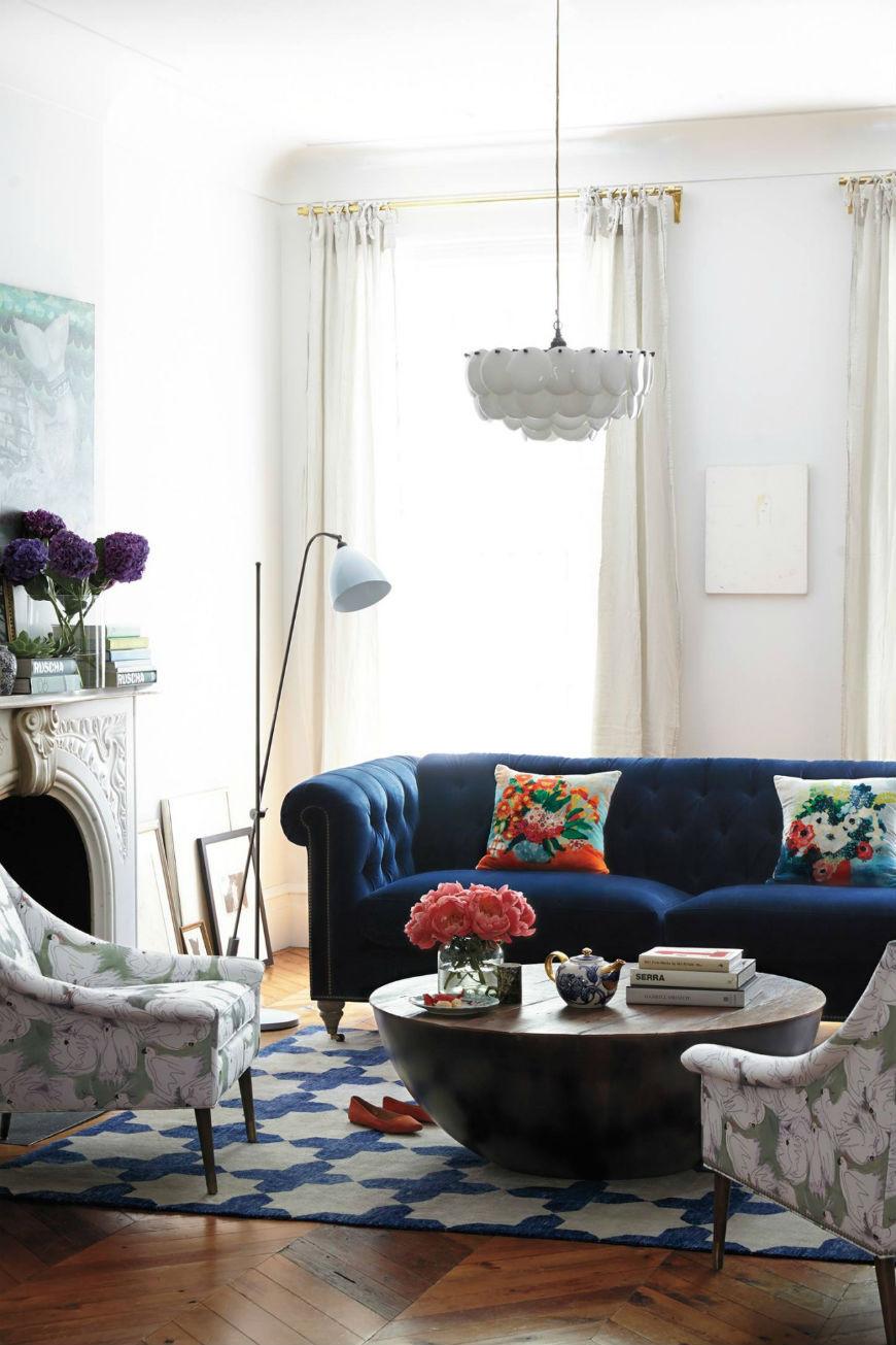Best ideas about Blue Velvet Sofa . Save or Pin Interior design tips blue velvet chesterfield sofa Now.