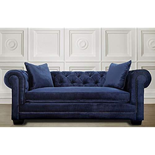 Best ideas about Blue Velvet Sofa . Save or Pin Blue Velvet Sofa Amazon Now.