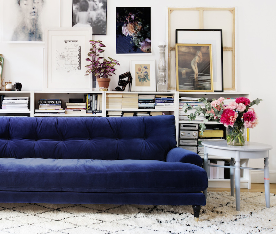 Best ideas about Blue Velvet Sofa . Save or Pin 25 Stunning Living Rooms with Blue Velvet Sofas Now.