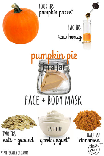 Best ideas about Body Mask DIY . Save or Pin Pumpkin Pie Face and Body Mask say yum Now.