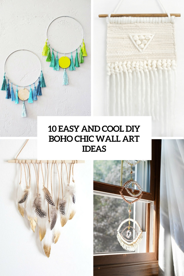 Best ideas about Boho Wall Art . Save or Pin 10 Easy And Cool DIY Boho Chic Wall Art Ideas Shelterness Now.