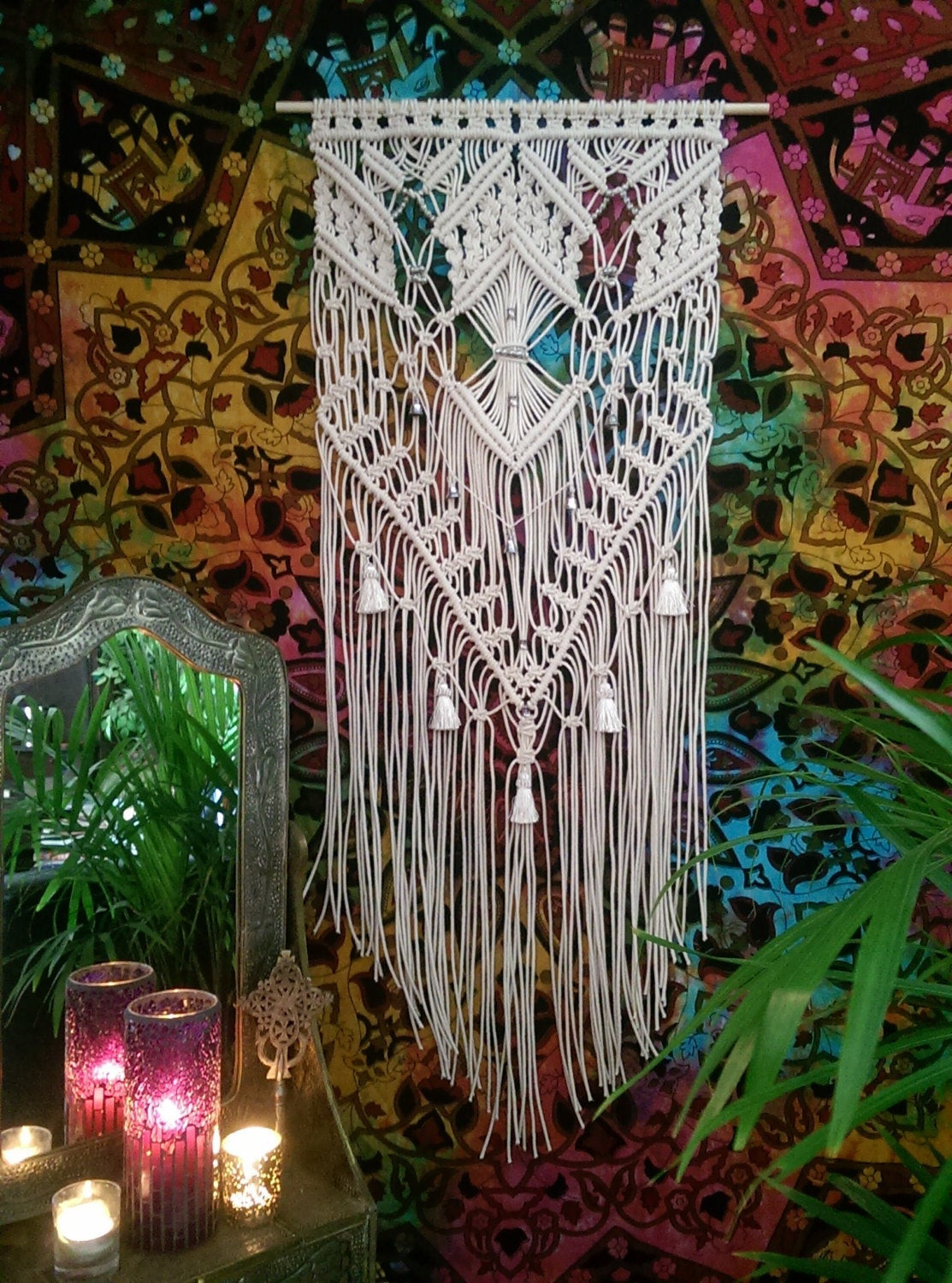 Best ideas about Boho Wall Art . Save or Pin Boho Decor Hippie Decor Macrame Wall Hanging by Now.
