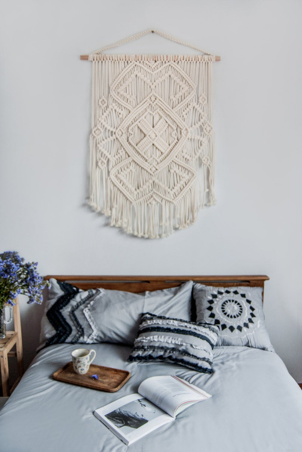 Best ideas about Boho Wall Art . Save or Pin Macrame wall hanging vintage macrame macrame wall art boho Now.
