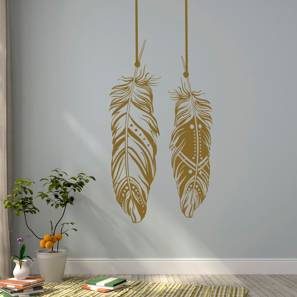Best ideas about Boho Wall Art . Save or Pin Feathers Wall Decals Tribal Wall Art Boho Bohemian Wall Decor Now.