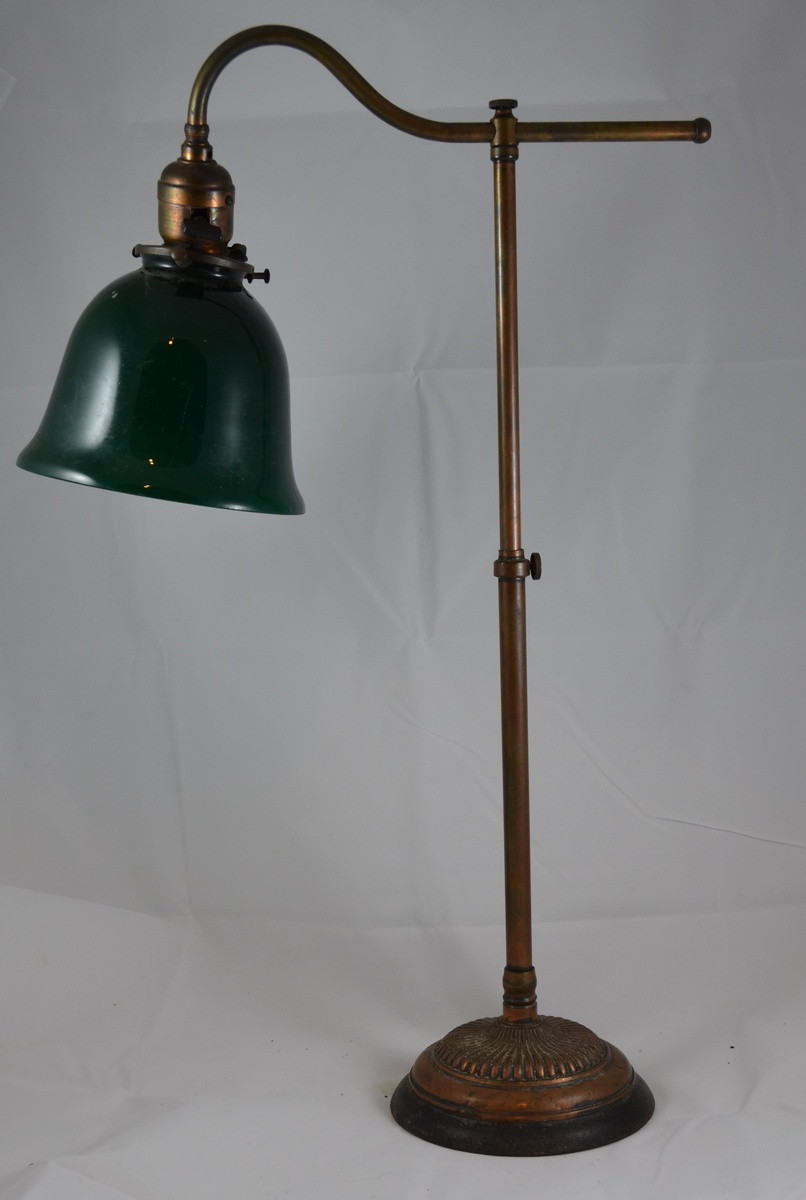 Best ideas about Brass Desk Lamp . Save or Pin Antique Brass Desk Lamp with Green Shade Edison Patients Now.