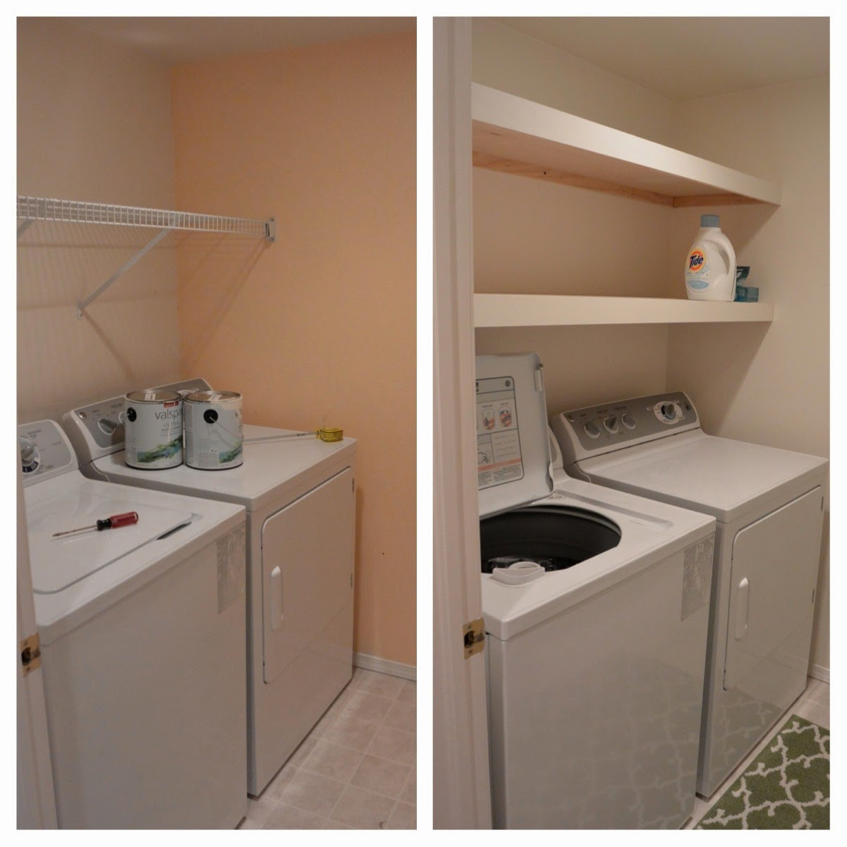 Best ideas about Brittney White Laundry Room . Save or Pin Mixin Mom Laundry Room Floating Shelves DIY Now.