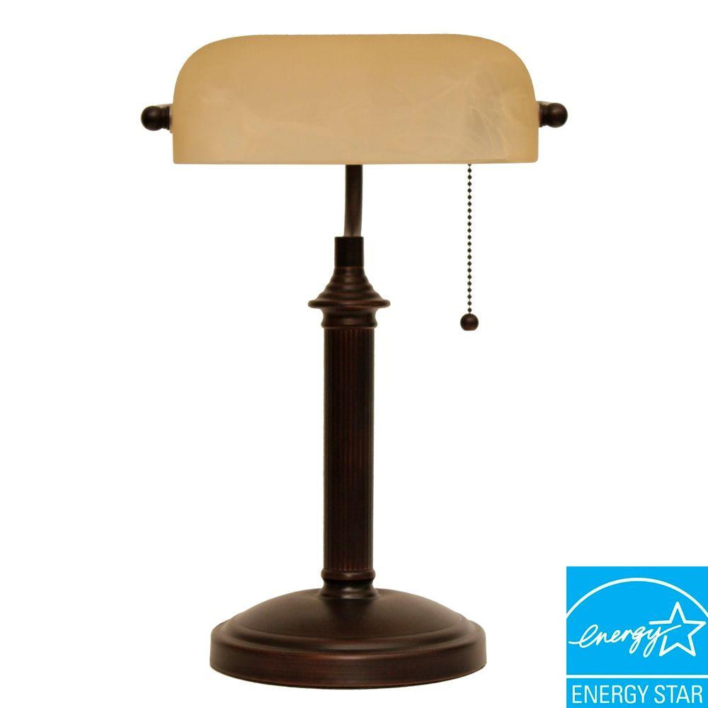 Best ideas about Bronze Desk Lamp . Save or Pin Hampton Bay 15 in Oil Rubbed Bronze Bankers Lamp with Now.
