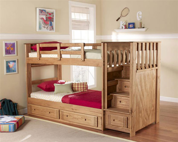 Best ideas about Bunk Bed Plans With Stairs . Save or Pin Woodwork Loft Bed With Stairs Woodworking Plans PDF Plans Now.