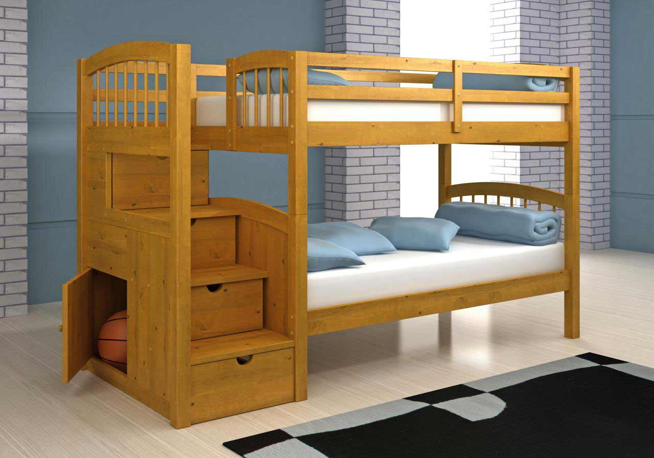 Best ideas about Bunk Bed Plans With Stairs . Save or Pin Woodwork Bunk Bed With Stairway Plans PDF Plans Now.