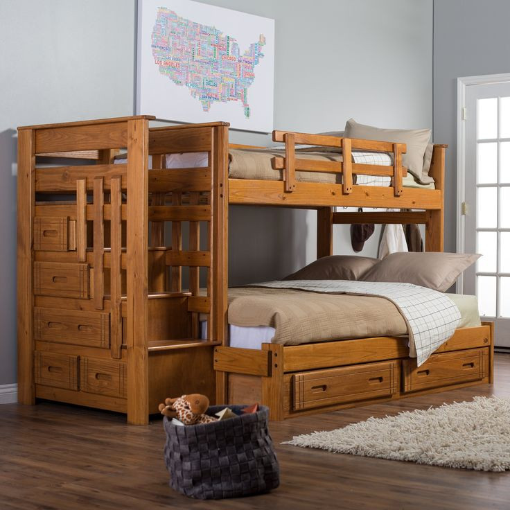 Best ideas about Bunk Bed Plans With Stairs . Save or Pin Bunk Bed Plans Full Over Full WoodWorking Projects & Plans Now.