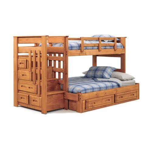 Best ideas about Bunk Bed Plans With Stairs . Save or Pin Like this idea with the big steps and the twin over full Now.