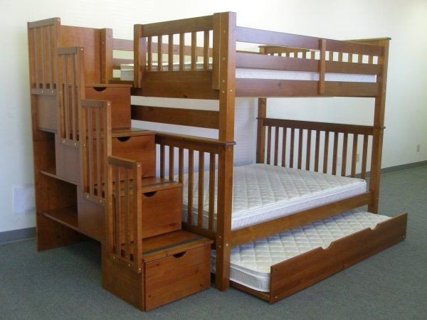 Best ideas about Bunk Bed Plans With Stairs . Save or Pin Twin Over Full Bunk Bed Plans With Stairs WoodWorking Now.