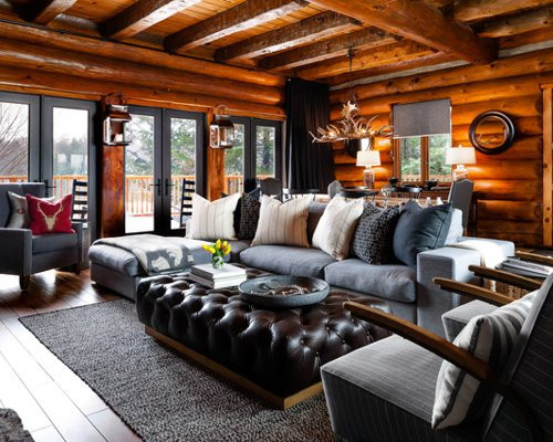 Best ideas about Cabin Living Room . Save or Pin Cabin Living Rooms Now.