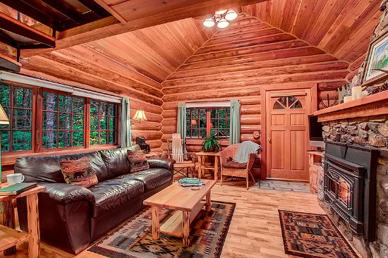 Best ideas about Cabin Living Room . Save or Pin Deep Forest Cabins at Mt Rainier Prices & Resort Now.