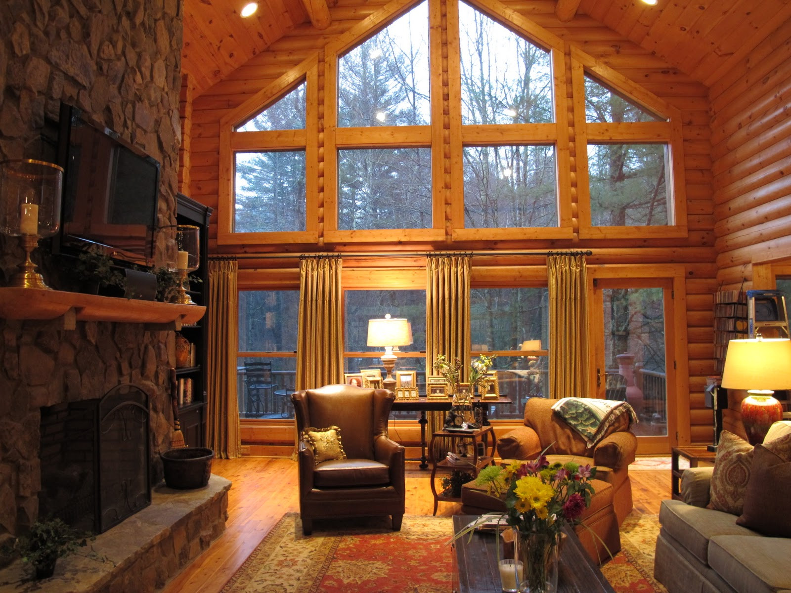 Best ideas about Cabin Living Room . Save or Pin Sew Bee It Dressing Up Windows Beauty and Functionality Now.
