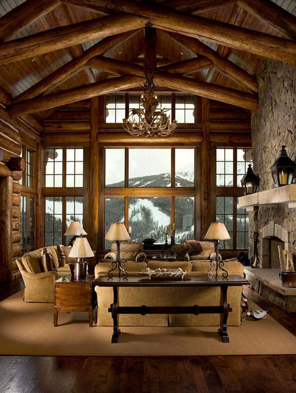 Best ideas about Cabin Living Room . Save or Pin 47 Extremely cozy and rustic cabin style living rooms Now.