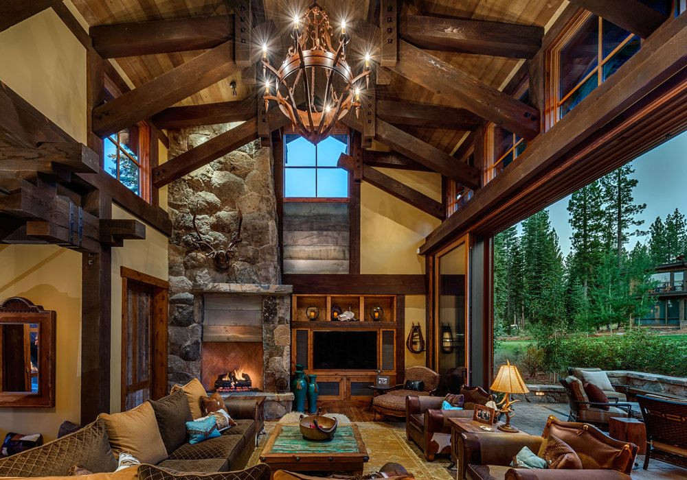 Best ideas about Cabin Living Room . Save or Pin Mountain Cabin Overflowing With Rustic Character And Now.