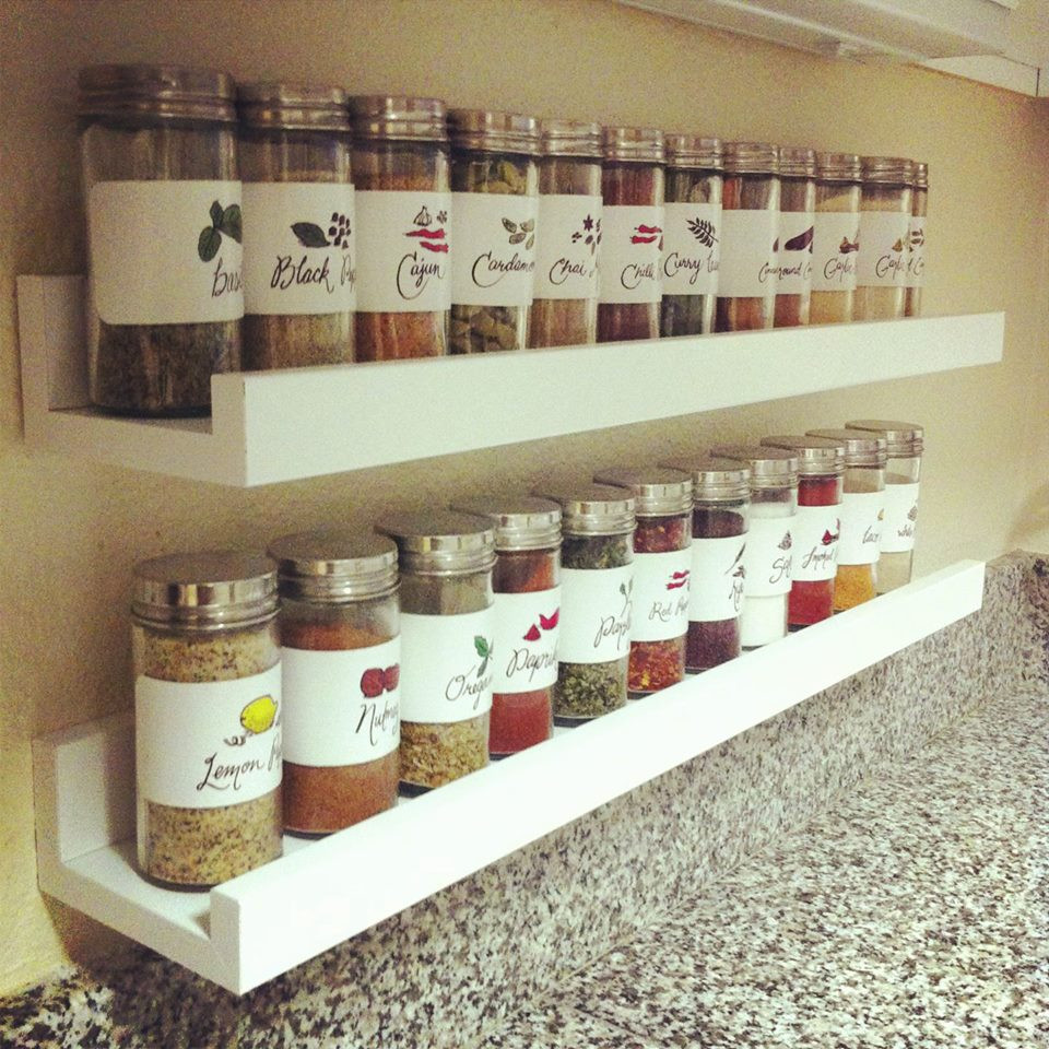 Best ideas about Cabinet Door Spice Rack DIY . Save or Pin DIY Spice Rack Now.