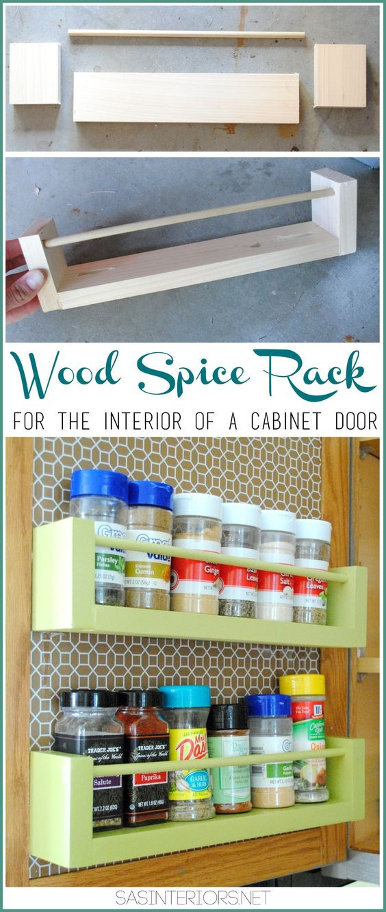 Best ideas about Cabinet Door Spice Rack DIY . Save or Pin Wooden spice rack Storage racks and Diy wood on Pinterest Now.