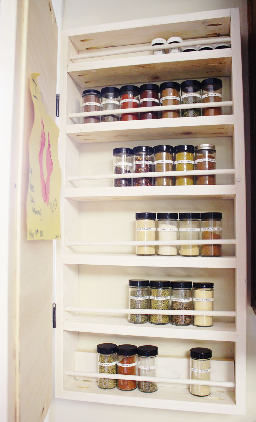 Best ideas about Cabinet Door Spice Rack DIY . Save or Pin How To Build A DIY Spice Rack Now.