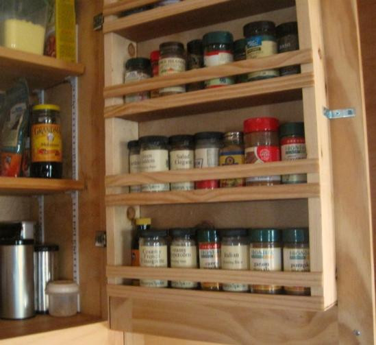 Best ideas about Cabinet Door Spice Rack DIY . Save or Pin Custom Touch for Do It Yourself Cabinets A Built in Spice Now.