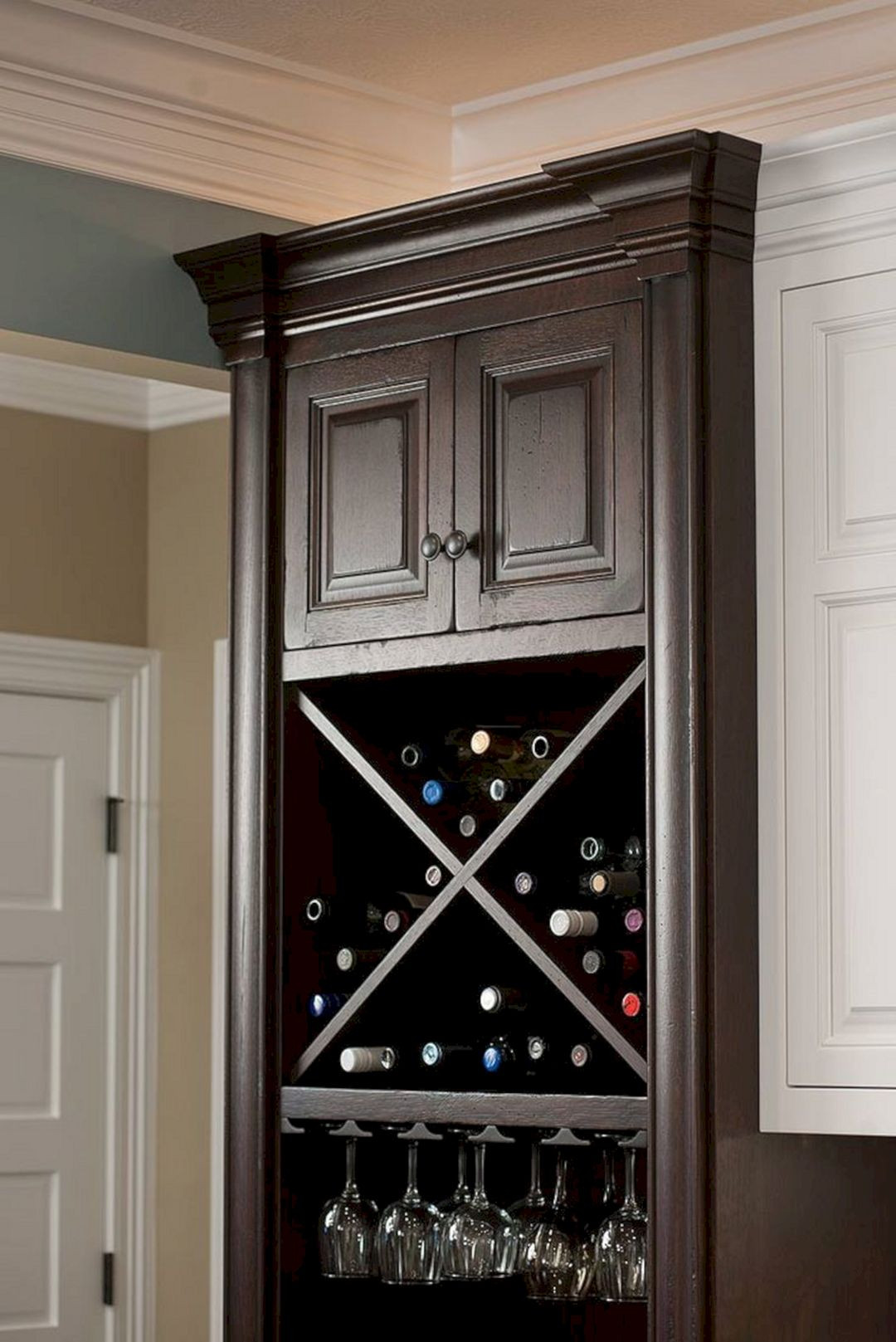 Best ideas about Cabinet With Wine Rack . Save or Pin 24 Best And Beautiful Wine Storage Ideas For Your Kitchen Now.