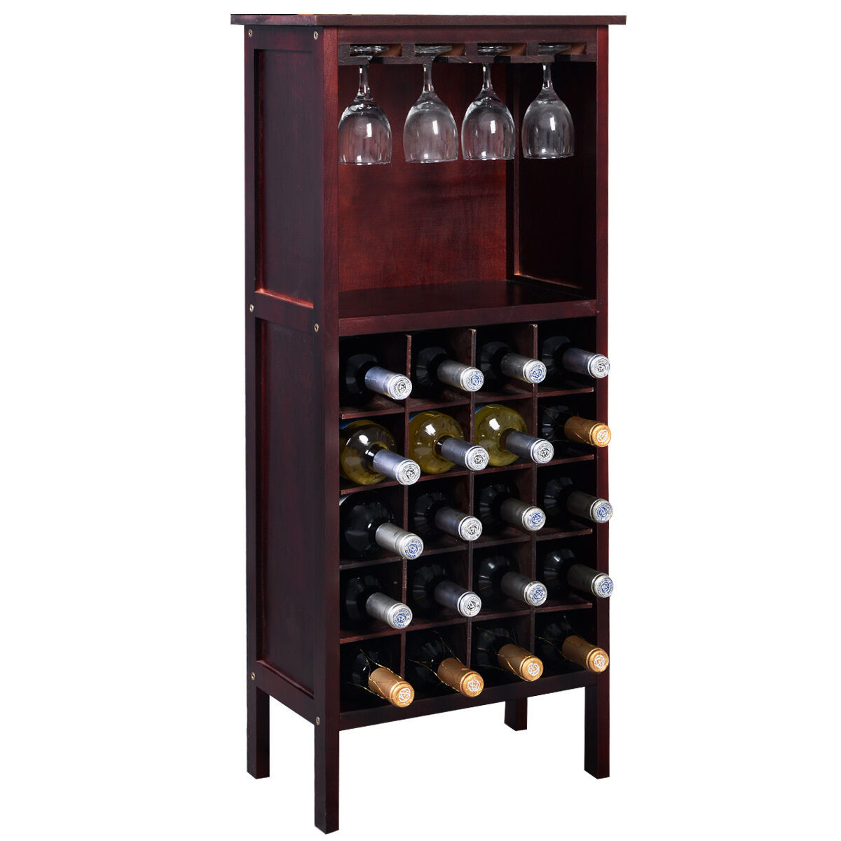Best ideas about Cabinet With Wine Rack . Save or Pin Solid Wood Liquor Cabinet Bar Furniture Rustic Display Now.