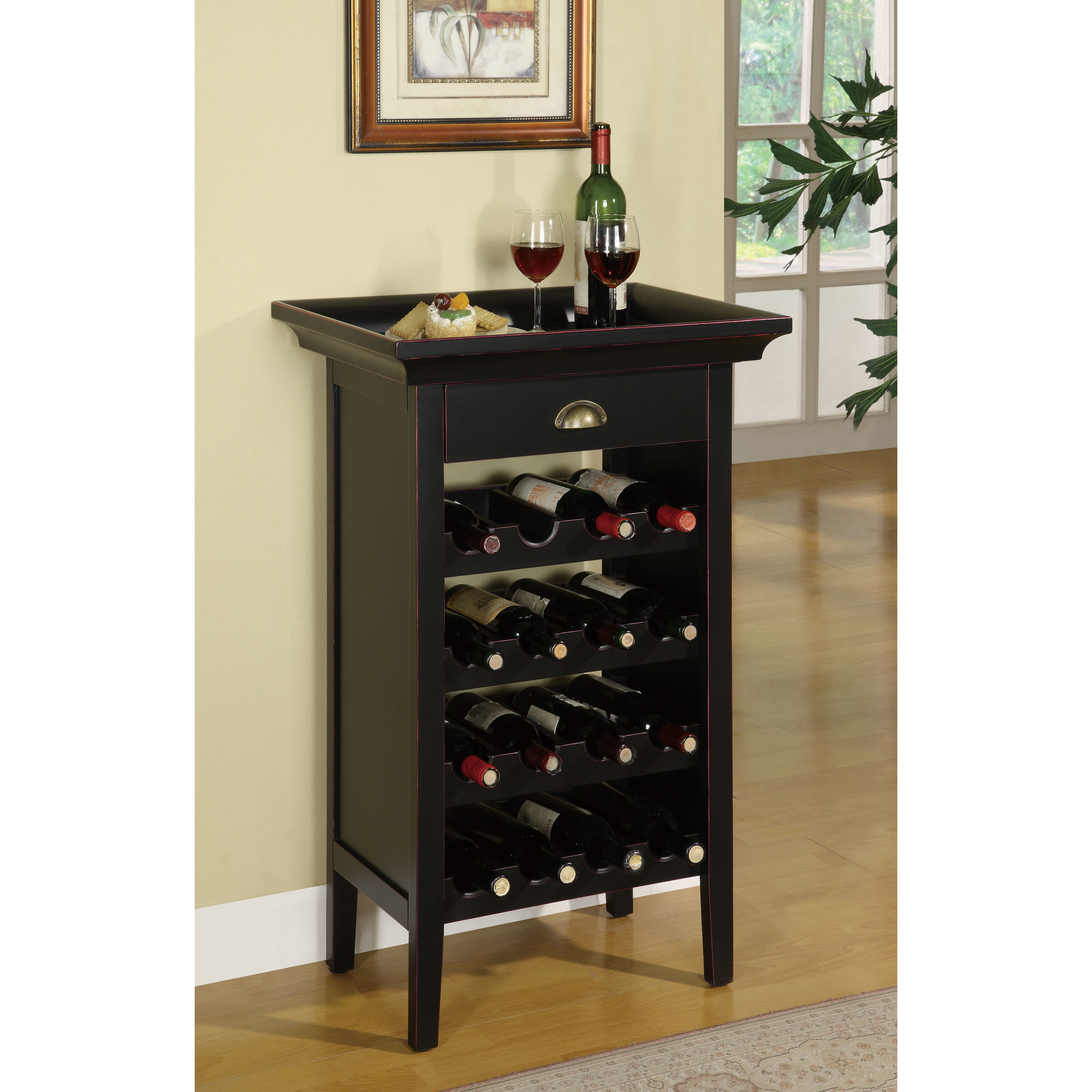 Best ideas about Cabinet With Wine Rack . Save or Pin Charlton Home Beamish 16 Bottle Floor Wine Rack & Reviews Now.