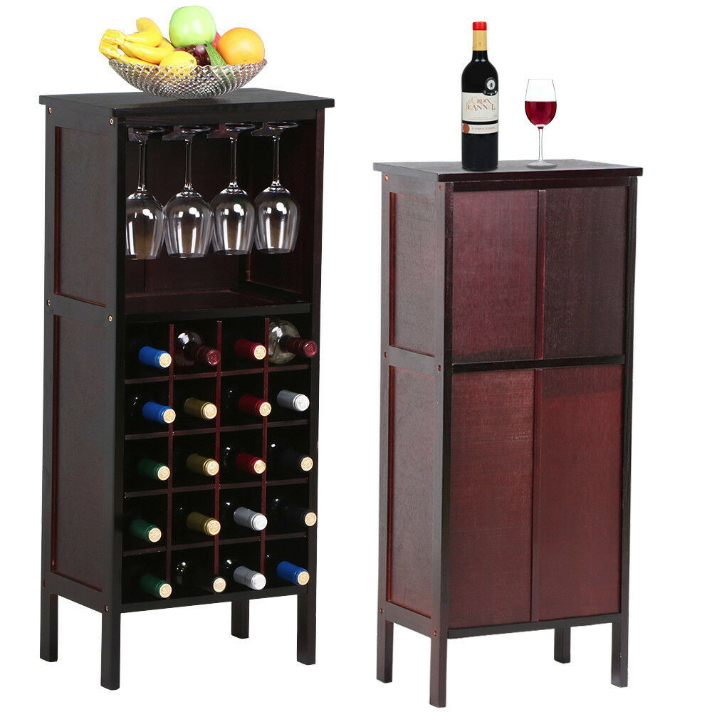 Best ideas about Cabinet With Wine Rack . Save or Pin Wood Wine Cabinet Bottle Holder Storage Kitchen Home Bar Now.