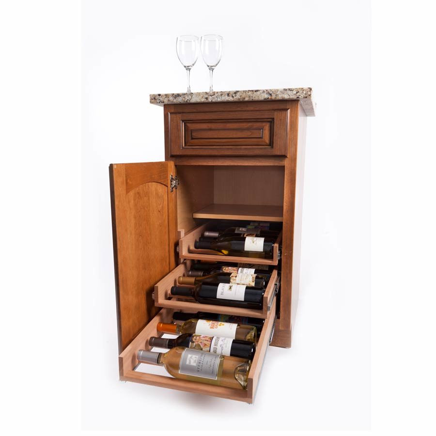 Best ideas about Cabinet With Wine Rack . Save or Pin Wine Logic 3 Tray 18 Bottle In Cabinet Wine Rack Maple WL Now.