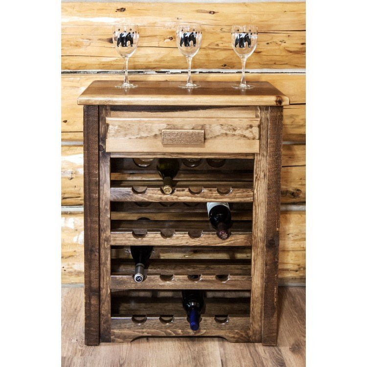 Best ideas about Cabinet With Wine Rack . Save or Pin Homestead Barnwood Wine Rack Cabinet Now.