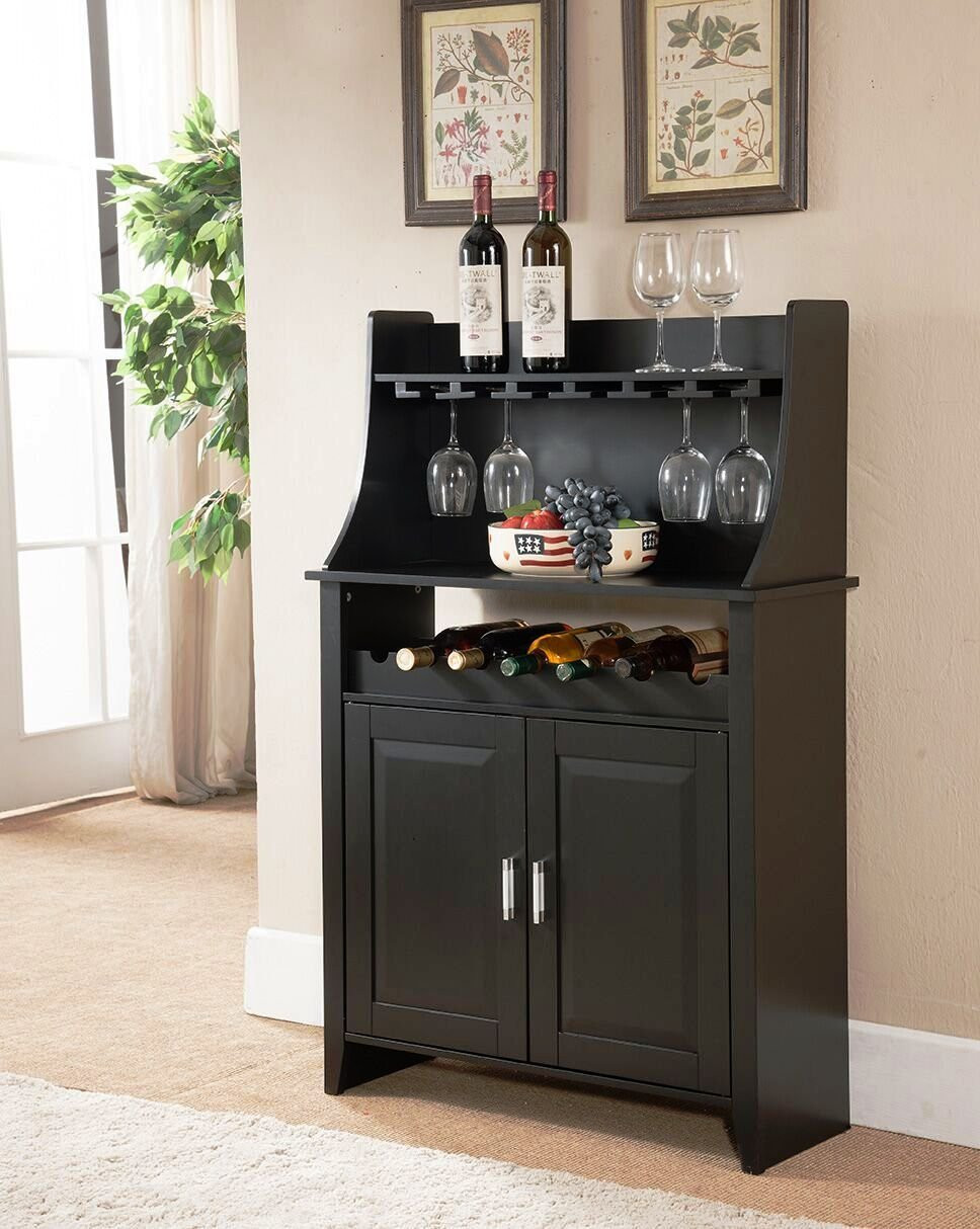 Best ideas about Cabinet With Wine Rack . Save or Pin Kings Brand Furniture Wood Wine Rack Buffet Storage Now.