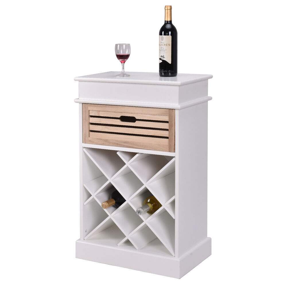 Best ideas about Cabinet With Wine Rack . Save or Pin 12 Bottles Wine Rack Cabinet Storage Display Shelves Wood Now.