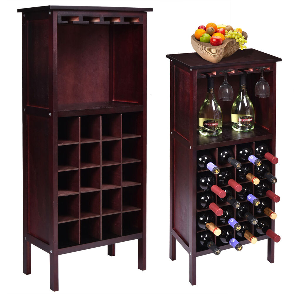 Best ideas about Cabinet With Wine Rack . Save or Pin New Wood Wine Cabinet Bottle Holder Storage w Glass Rack Now.